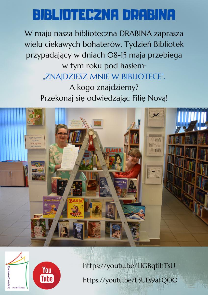 Plakat - Biblioteczna drabina