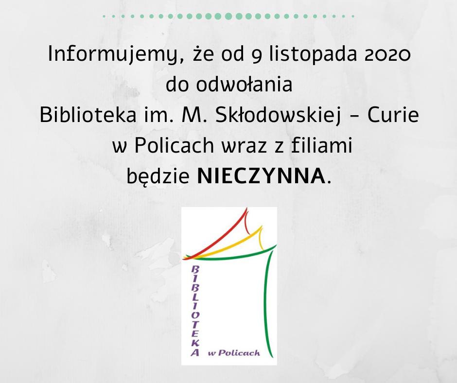 grafika informująca o zamknięciu biblioteki