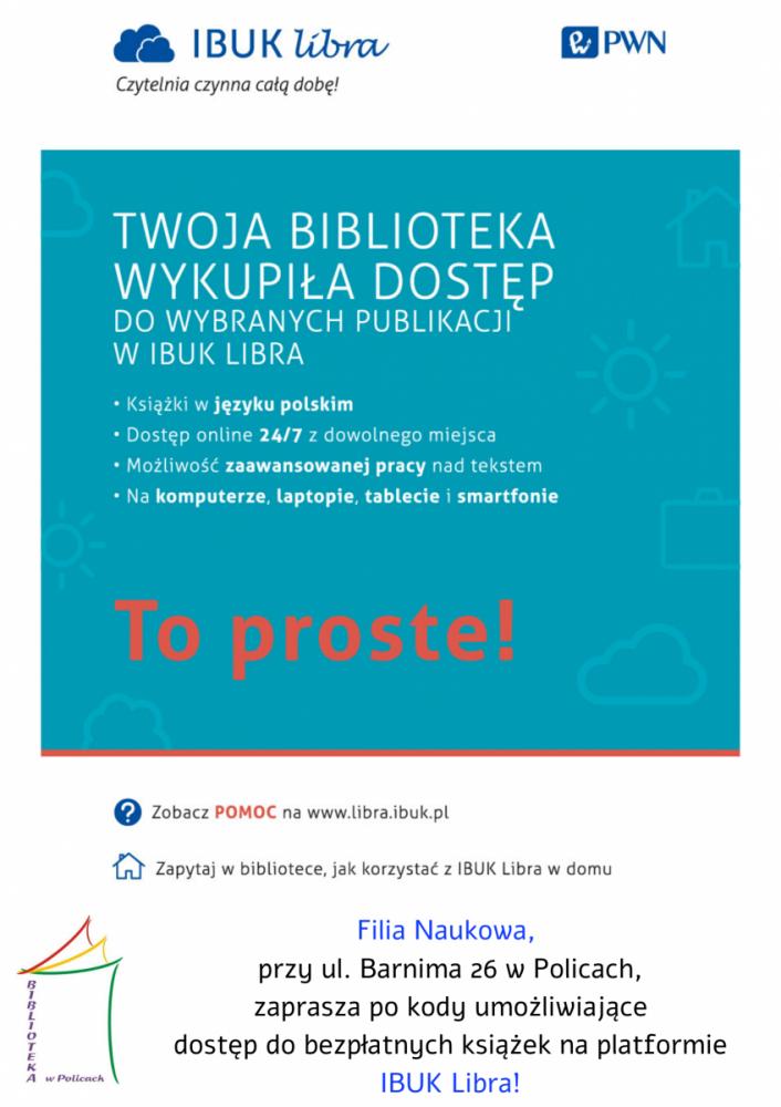 Plakat promujący IBUK LIBRA