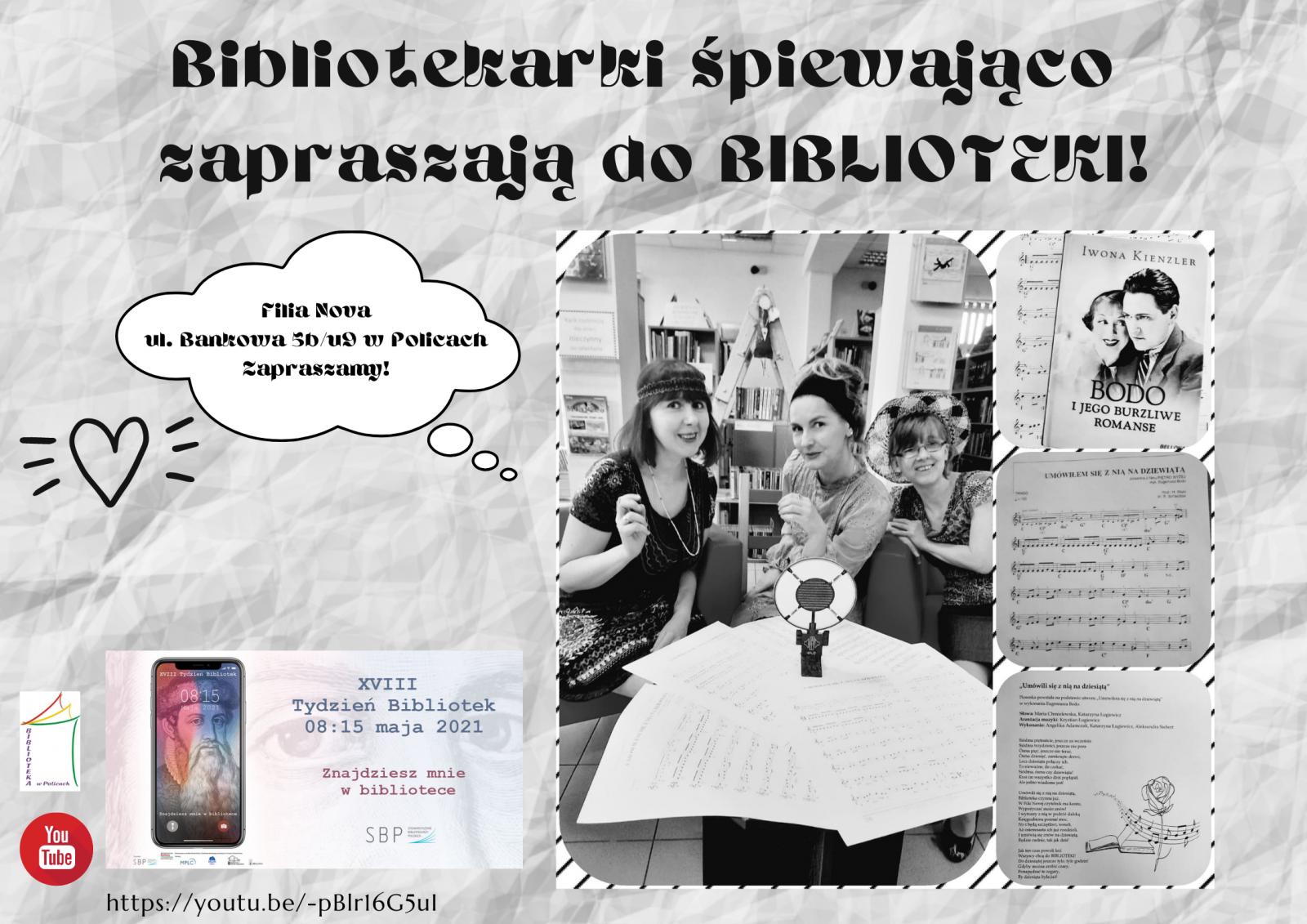 plakat przedstawiający bibliotekarki