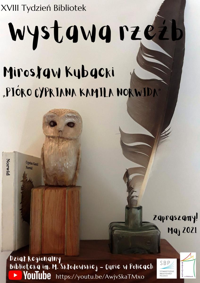 plakat promujący wystawę rzeźb
