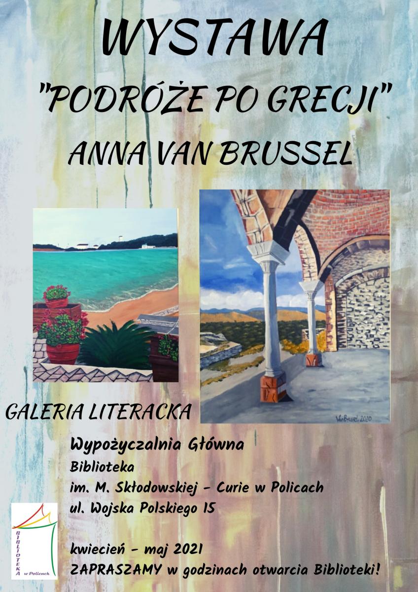 plakat informujący o wystawie malarstwa
