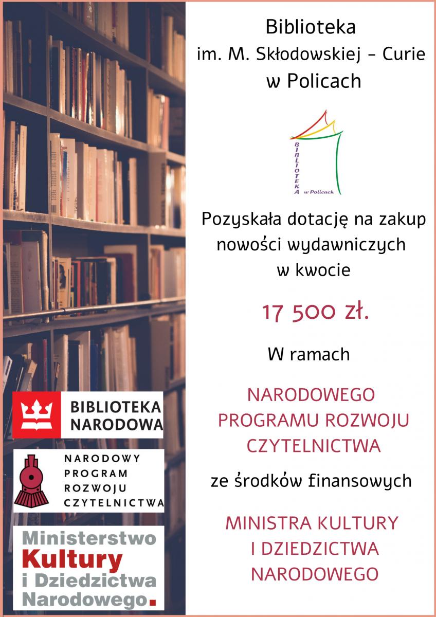 plakat zawierający informację o dotacji z MKiDN